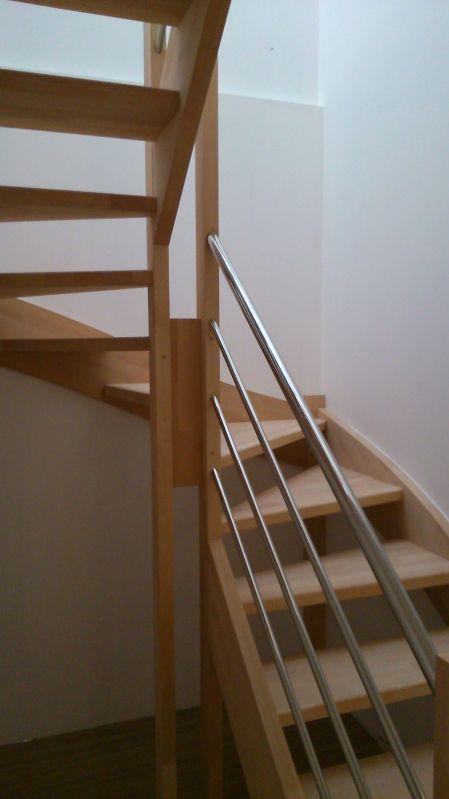 escalier bois deux quart tournants inox briscous 64 vente d 39 escaliers et gardes corps en. Black Bedroom Furniture Sets. Home Design Ideas