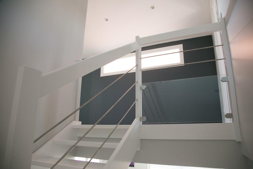 Garde corps d co en bois et inox dax vente d 39 escaliers for Balustrade escalier exterieur