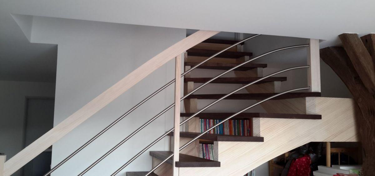 Escalier sur cr maill res dans les landes vente d for Devis escalier interieur
