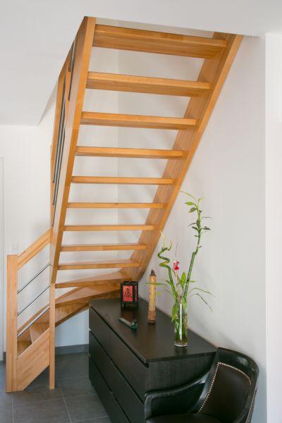 Escalier bois 1 4 tournant inox labenne 40 vente d for Escalier 2 quart tournant leroy merlin